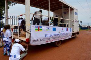 Centrafrique : Une caravane de sensibilisation sur l'enregistrement des électeurs dans les rues de Bangui